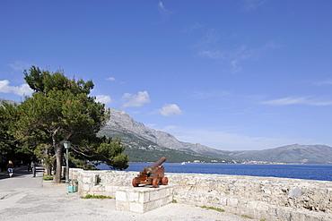 View from the historic town on Peljesac peninsula near Orebic, Korcula, Croatia, Europe