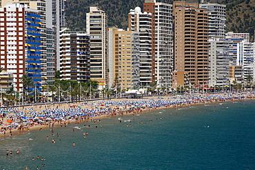 Playa Levante beach, Benidorm, Costa Blanca, Spain, Europe