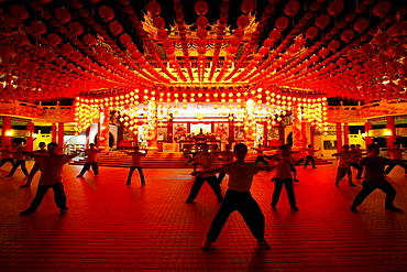 T'ai Chi Ch'uan, Tai chi chuan, Chinese martial arts, Chinese Thean Hou Temple, Kuala Lumpur, Malaysia, Asia