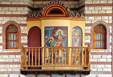Detail, monastery of St. Theodora, Thessaloniki, Chalkidiki, Macedonia, Greece, Europe
