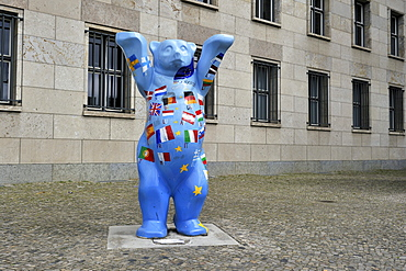 So-called Buddy Bear in front of Finance Ministry, Berlin, Germany, Europe
