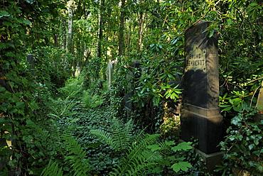 Weissensee Cemetery, largest preserved Jewish cemetery in Europe, Weissensee district, Pankow district, Berlin, Germany, Europe