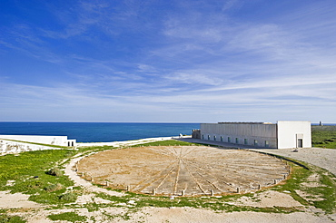 Wind rose in the Fortaleza de Sagres national monument, Ponta de Sagres, Sagres, Algarve, Portugal, Europe