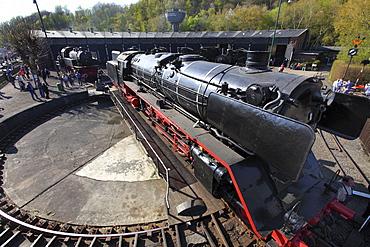 Steam locomotive-day, Railway Museum, Dahlhausen, Bochum, North Rhine-Westphalia, Germany, Europe