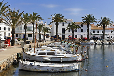 Small harbour town of Fornells in the north of Menorca, Balearic Islands, Spain, Europe