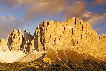 Rosengarten, Catinaccio, at sunset, Dolomites, Trentino-Alto Adige, Italy, Europe