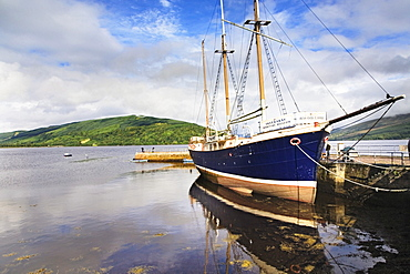 Maritime Museum on a sailing ship in the port of Inveraray on Loch Fyne, Argyll, Scotland, United Kingdom, Europe