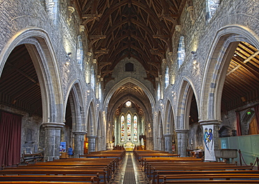 Interior view of St. Cainnech Cathedral or St. Canice's Cathedral, Kilkenny, County Kilkenny, Ireland, British Isles, Europe