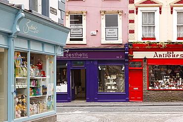 Shops in downtown Kilkenny, County Kilkenny, Ireland, British Isles, Europe