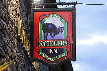 Restaurant sign, restaurant and pub, Kyteler's Inn, Kilkenny, County Kilkenny, Ireland, British Isles, Europe