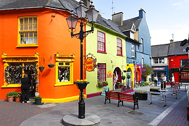Colorful houses in the center of Kinsale, County Cork, Republic of Ireland, British Isles, Europe