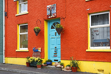 Colourful House, Kinsale, County Cork, Republic of Ireland, British Isles, Europe
