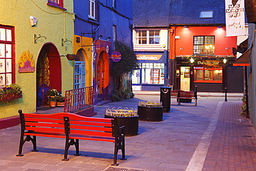 Evening in the center of Kinsale, County Cork, Republic of Ireland, British Isles, Europe