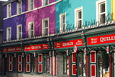 Row of shops, Kenmare, Ring of Kerry, County Kerry, Ireland, British Isles, Europe