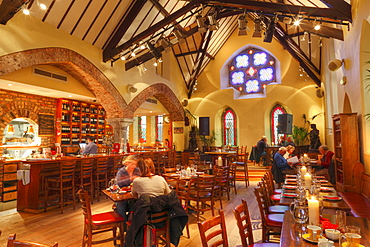 Sol y Sombra restaurant in a former church, Killorglin, Ring of Kerry, County Kerry, Ireland, British Isles, Europe
