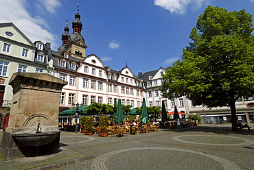 Am Plan market place, old town of Koblenz, UNESCO World Heritage Site Oberes Mittelrheintal landscape of the Upper Middle Rhine Valley, Rhineland-Palatinate, Germany, Europe