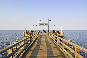 The pier at the Baltic resort Binz, Ruegen island, Mecklenburg-Western Pomerania, Germany, Europe