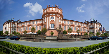 Schloss Biebrich palace, Biebrich borough, Wiesbaden, Rhine, Hesse, Germany, Europe
