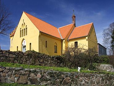 Allinge Church, Bornholm, Denmark, Europe