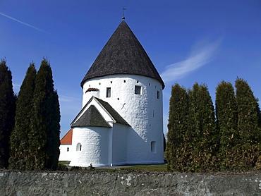 Olsker Round Church, Bornholm, Denmark, Europe