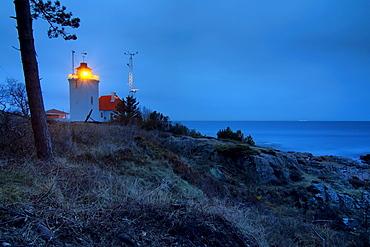 Sandvig Lighthouse, Bornholm, Denmark, Europe