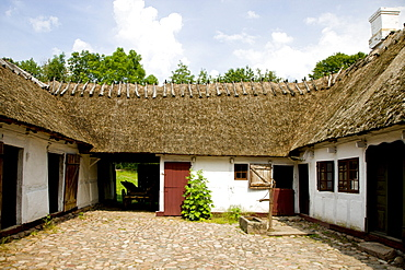 Old farm at the Funen Village open air museum, Denmark, Europe