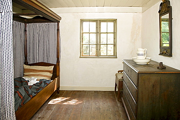 Old bedroom, the Funen Village open air museum, Odense, Denmark, Europe