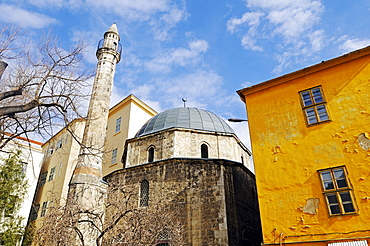 Mosque of Pasha Jakowali Hassan from the time of Turkish rule and its single minaret, Hungary, Pecs, European Capital of Culture 2010, Hungary, southern Hungary, Europe