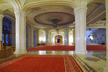 Theater, interior, Parliament Palace, Bucharest, Romania, Europe