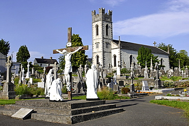 St Colmcille's church and cemetry, County of Meath, Republic of Ireland, Europe