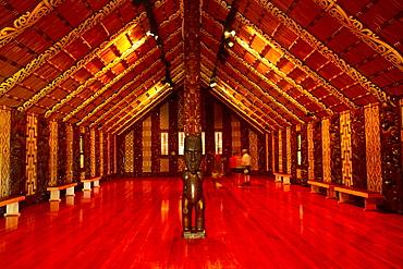 Waitangi Maori Meeting House, interior, North Island, New Zealand