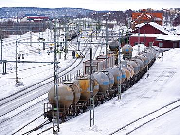 The station of Kiruna, Lappland, northern Sweden, Sweden, Europe