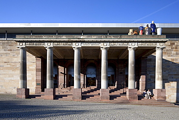 Portico of the former imperial palace, Museum Fridericianum, Kassel, Hesse, Germany, Europe