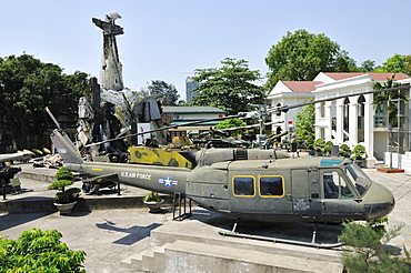 War loot, Museum of Military History, Hanoi, Vietnam, Southeast Asia