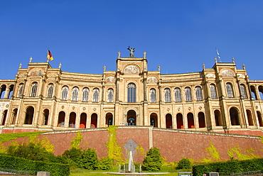 Maximilianeum, classicism, democracy, Bavarian state parliament, Haidhausen, Munich, capital, Upper Bavaria, Bavaria, Germany, Europe