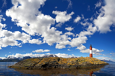 Lighthouse in the Beagle Channel, Ushuaia, Tierra del Fuego, Patagonia, Argentina, South America