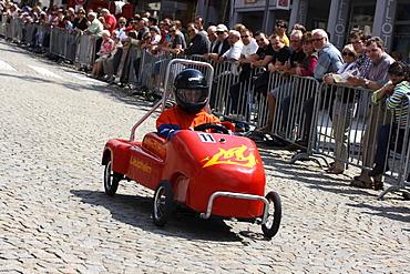 Soap box race, Laupheim, Biberach, Upper Swabia, Baden-Wuerttemberg, Germany, Europe
