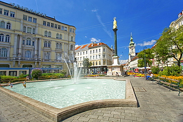 City view, Herrengasse street, Graz, Styria, Austria, Europe