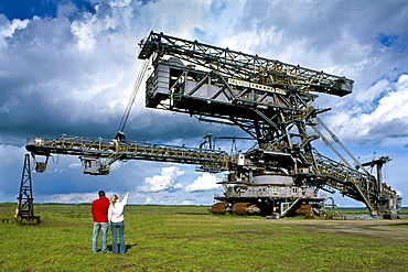 Lignite excavators, Ferropolis Museum, Juedenberg, Saxony-Anhalt, Germany, Europe