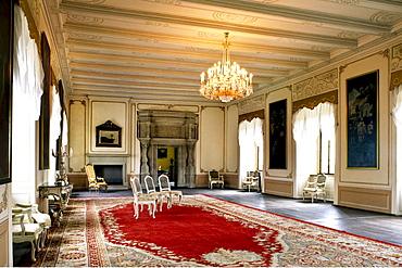 Royal Hall, Burg Neuerburg castle, Freyburg, Saxony-Anhalt, Germany, Europe