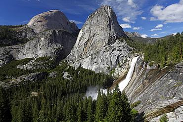 Nevada Falls and Liberty Cap, Yosemite National Park, California, USA