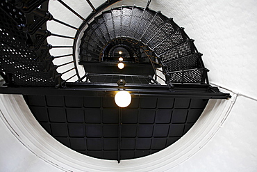 Staircase in Yaquina Head Lighthouse, Oregon, USA