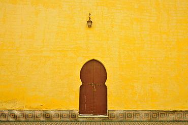 Door, courtyard, Moulay Ismail Mausoleum, Meknes, Morocco, Africa