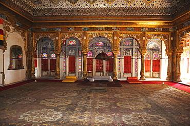 Phul Mahal, Flower Palace, Throne Hall in the Meherangarh Fort, Jodhpur, Rajasthan, India, Asia