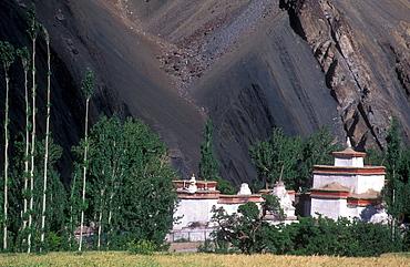 Buddhist monastery Alchi, Ladakh, Himalaya, Jammu and Kashmir, North India, Asia