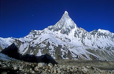 Schivling, throne of deity Shiva, 6543 m, Garhwal Himalayas, Uttarakhand, North India, Asia