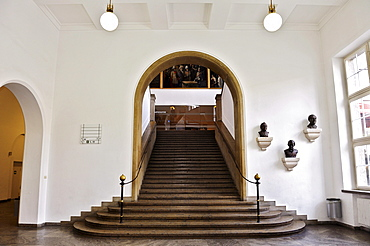 Stairs to the Ehrensaal hall, Deutsches Museum, Munich, Bavaria, Germany, Europe