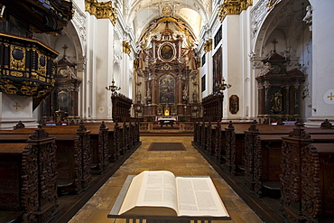 Ignatius Church, Old Cathedral, in Linz, Upper Austria, Austria, Europe