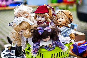 Dolls on a flea market