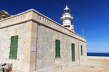Lighthouse at Cap de Tramuntana on Dragon Island, Isla Dragonera, Majorca, Balearic Islands, Spain, Europe